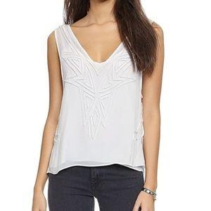 NWT Ramy Brook Perry Chiffon white blouse Large